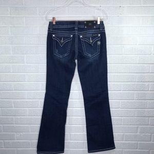 Miss Me Flap Pocket Boot Cut Jeans Dark Wash 29